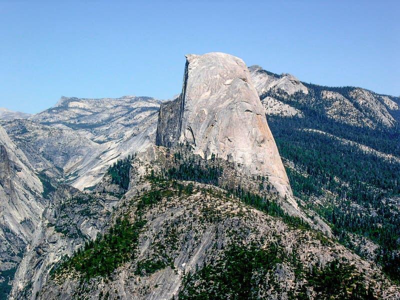 半圆顶在优胜美地国家公园,加利福尼亚,美国 库存照片
