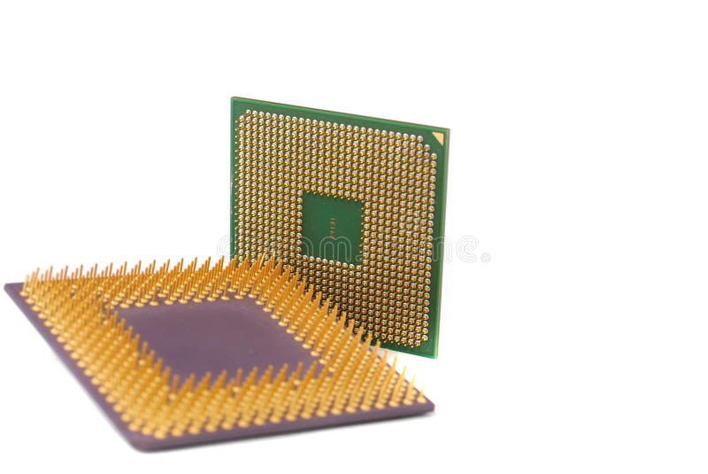 半导体处理器 库存图片