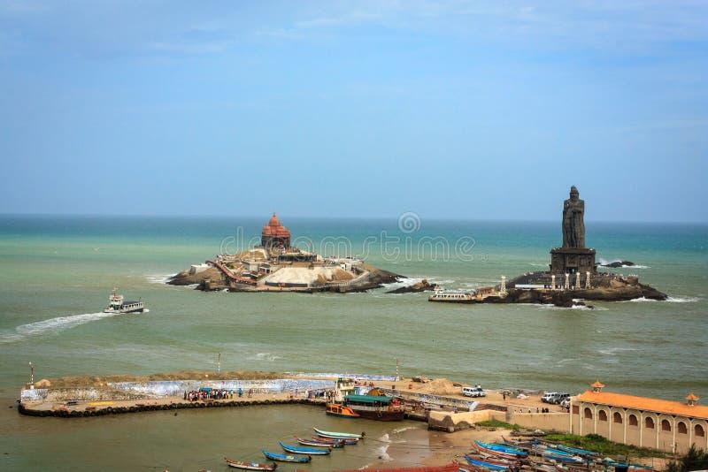 半岛印度,科摩林角的最南端的一角 库存照片