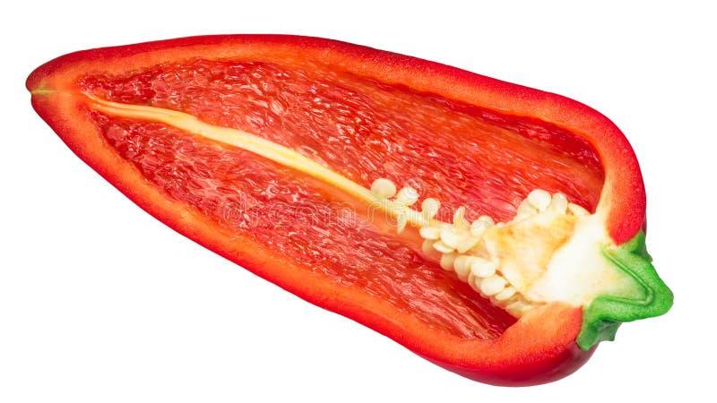 半巨型甜的红辣椒,道路 免版税库存照片