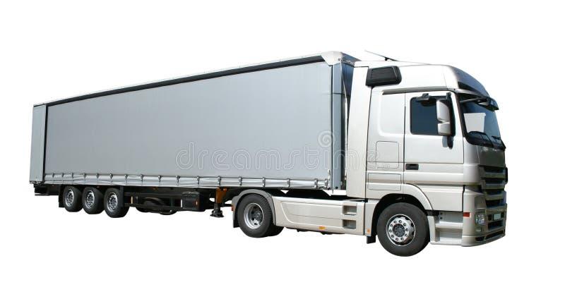 半拖车卡车 库存图片