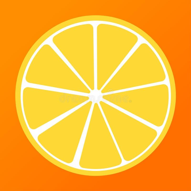 半柠檬黄色和橙色背景夏天 皇族释放例证