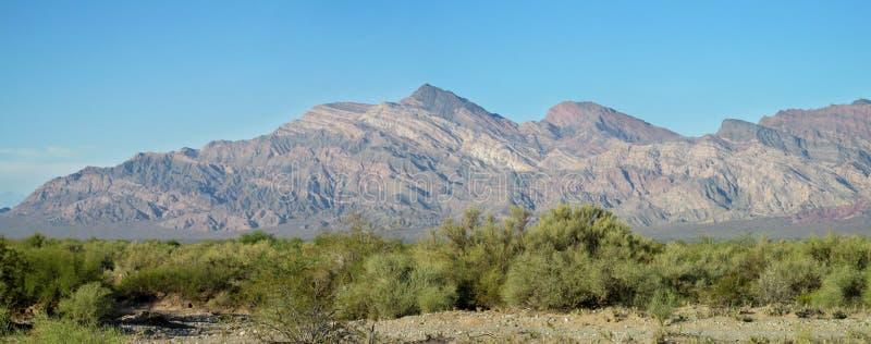 半沙漠山风景 图库摄影