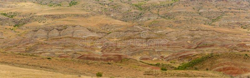 半沙漠的山风景 免版税库存照片