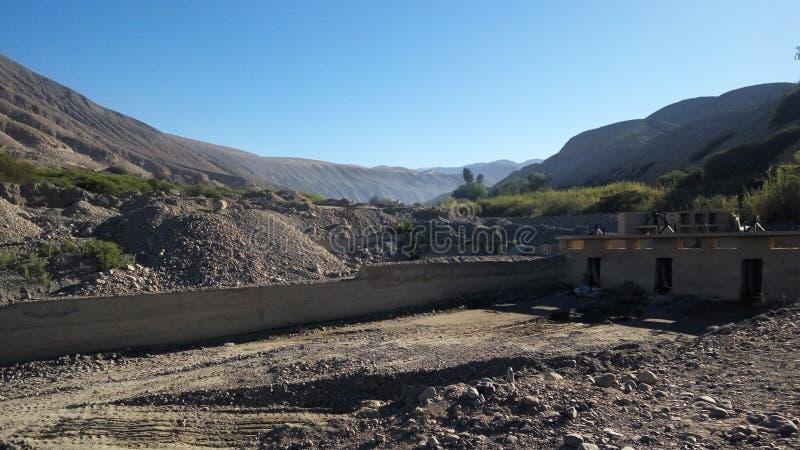 半沙漠的环境-塔克纳, Perú 免版税库存照片