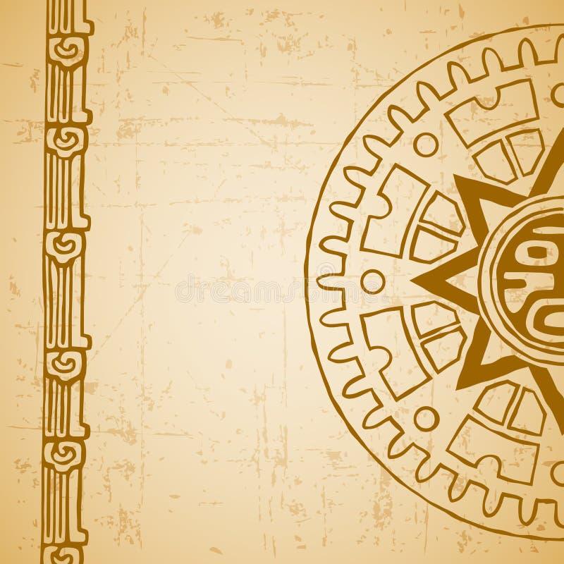 半玛雅人的太阳 皇族释放例证