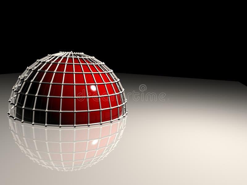 半球反映 库存例证