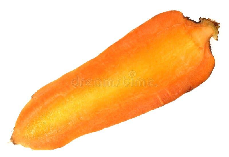 半的红萝卜 免版税库存图片