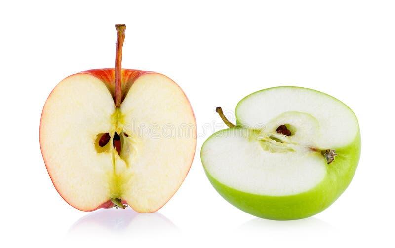 半红色和绿色苹果 免版税库存图片