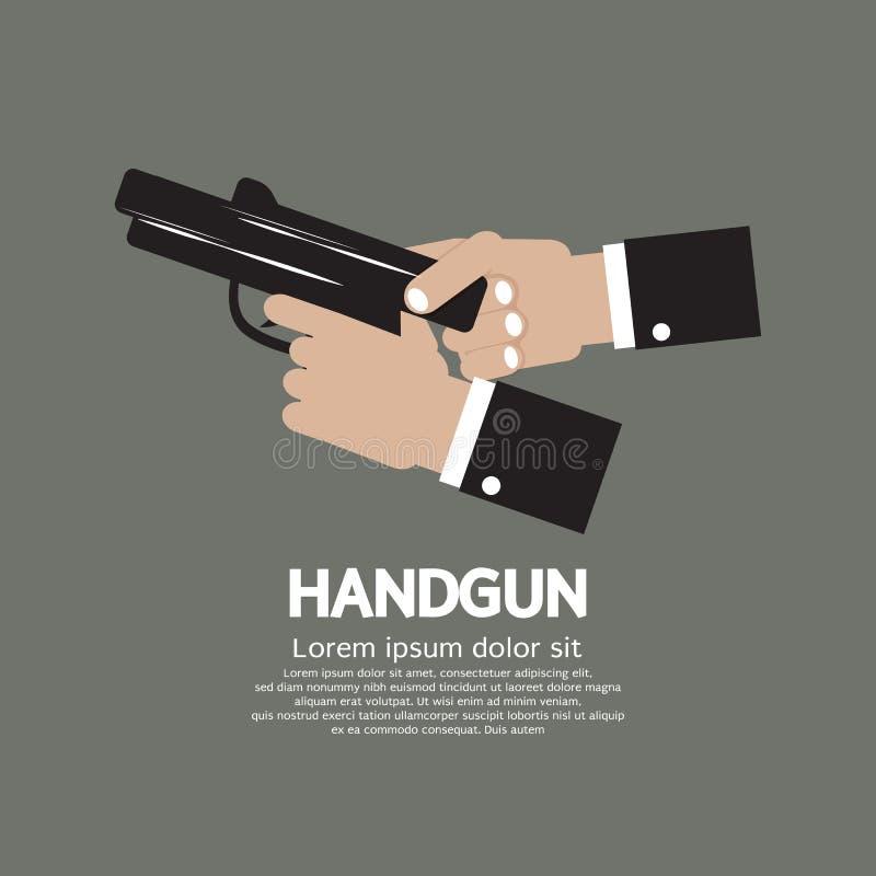 半自动手枪 向量例证