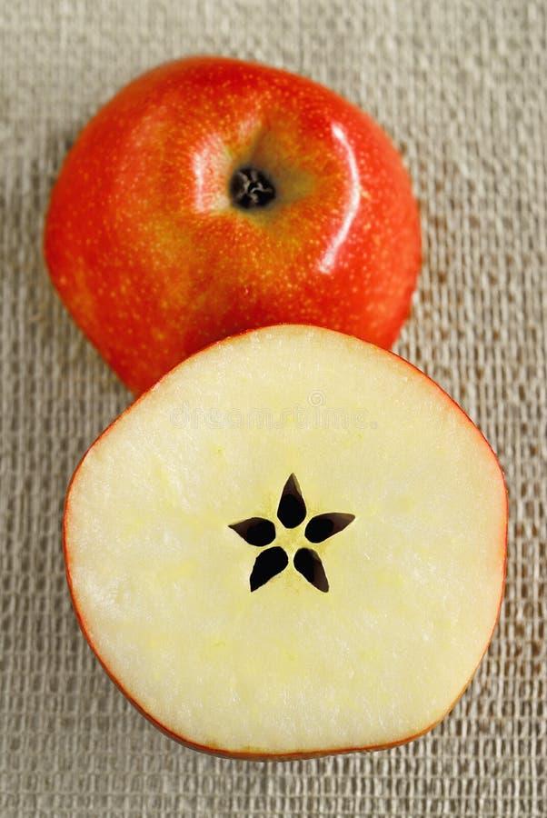 半苹果的剪切 库存图片