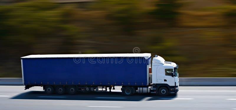半蓝色卡车 图库摄影