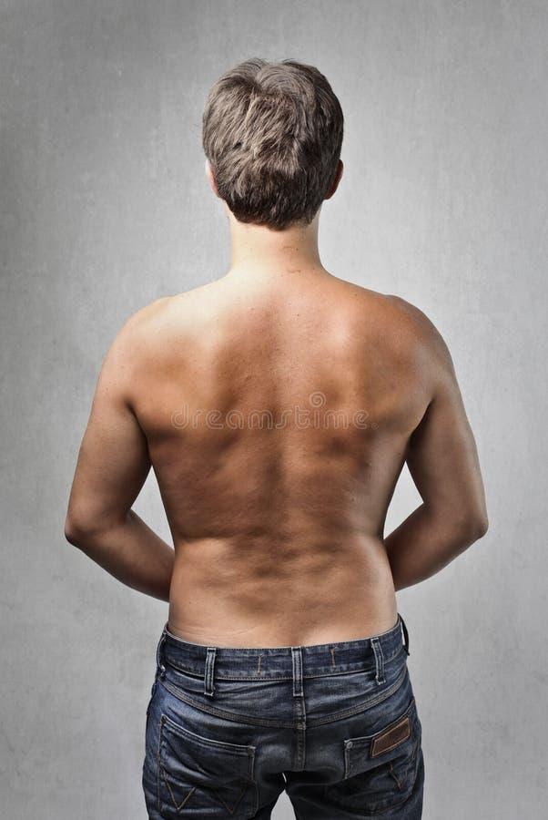 半赤裸人 免版税库存图片