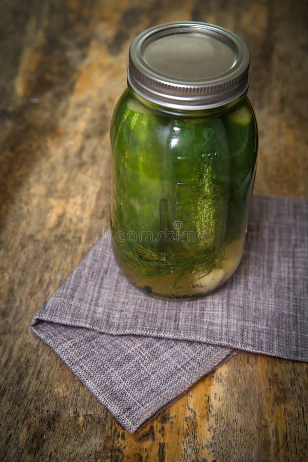 半酸黄瓜腌汁 库存图片