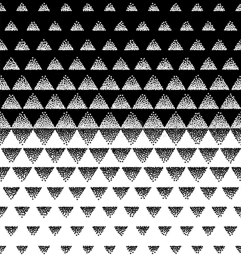 半音三角样式传染媒介 黑白三角半音栅格梯度样式几何抽象背景 editabl 向量例证