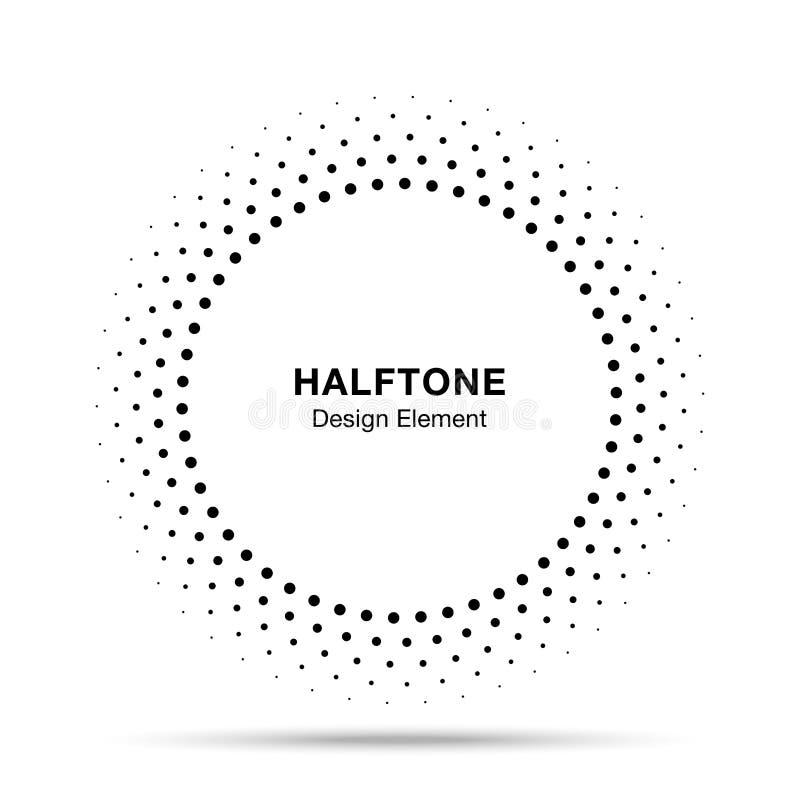 半音传染媒介圈子框架加点商标象征,医疗的设计元素,治疗,化妆用品 向量例证