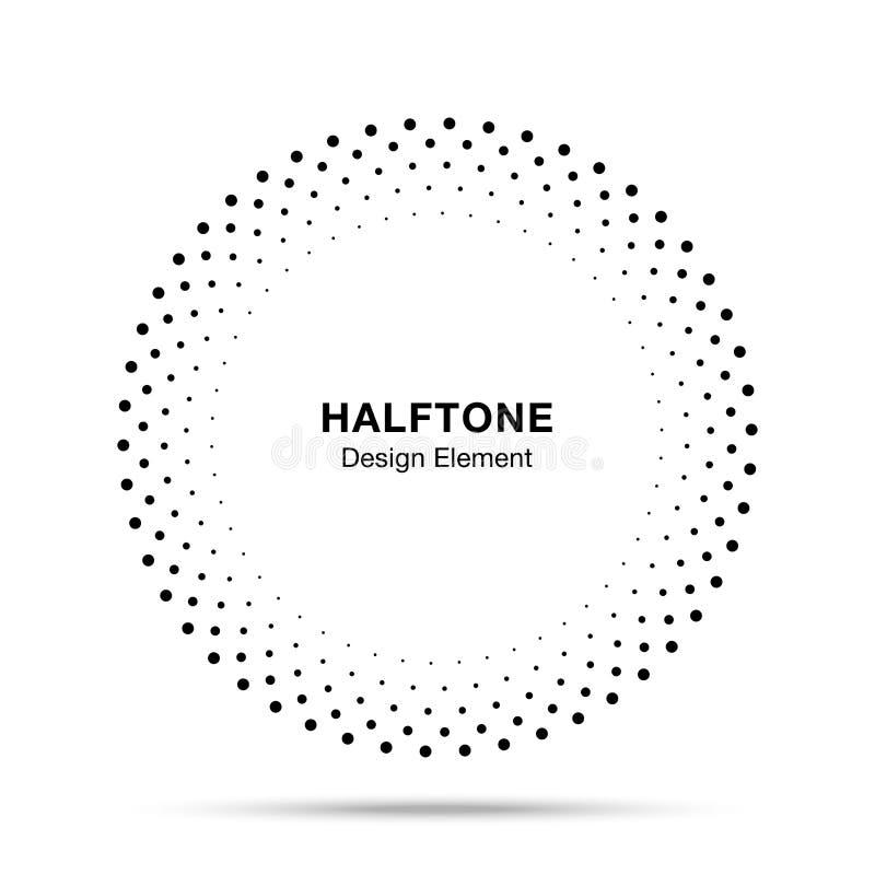 半音传染媒介圈子框架加点商标象征,医疗的设计元素,治疗,化妆用品 库存例证