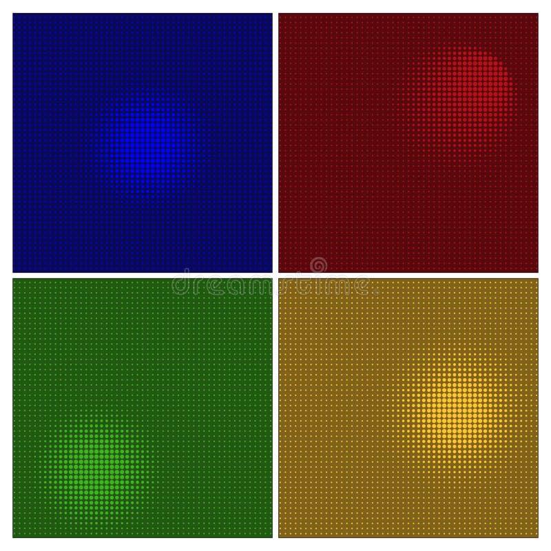 半音作用集合 传染媒介抽象另外颜色被加点的背景 库存例证