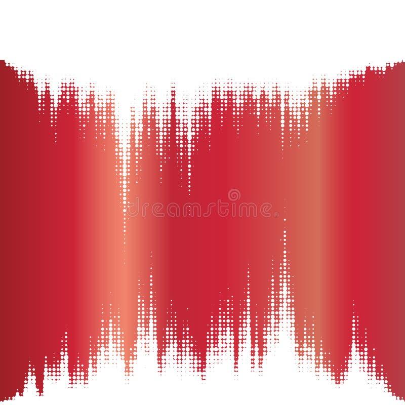 半音元素。 不可思议的声波。 库存例证