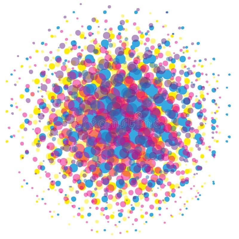 半音可笑的背景流行艺术样式传染媒介圆形 向量例证