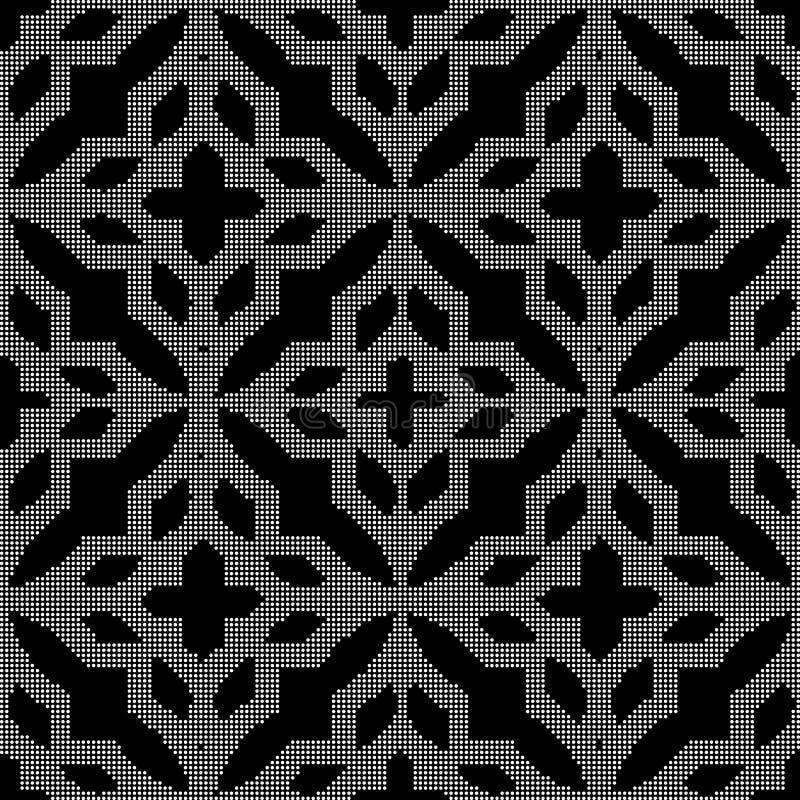 半音圆的黑无缝的背景反复查对格子flo 向量例证