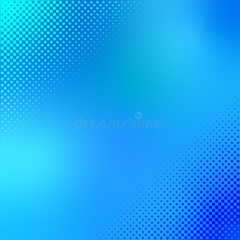 半音在蓝色和深蓝背景中光点图形 图库摄影