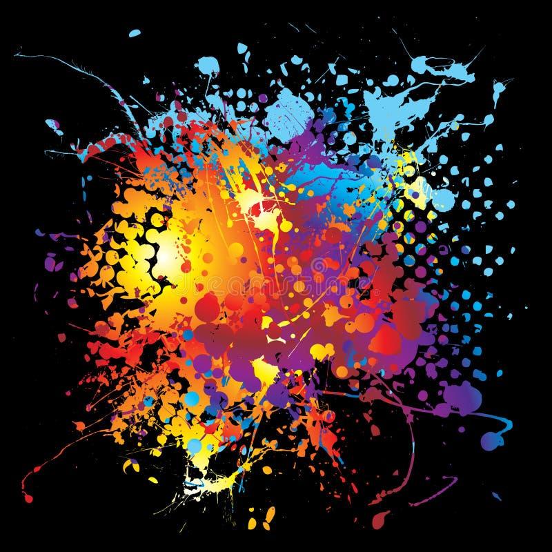 半音墨水大彩虹 向量例证