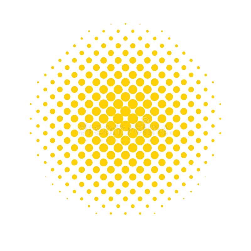 半音小点 在流行艺术样式的色的,抽象背景 库存例证