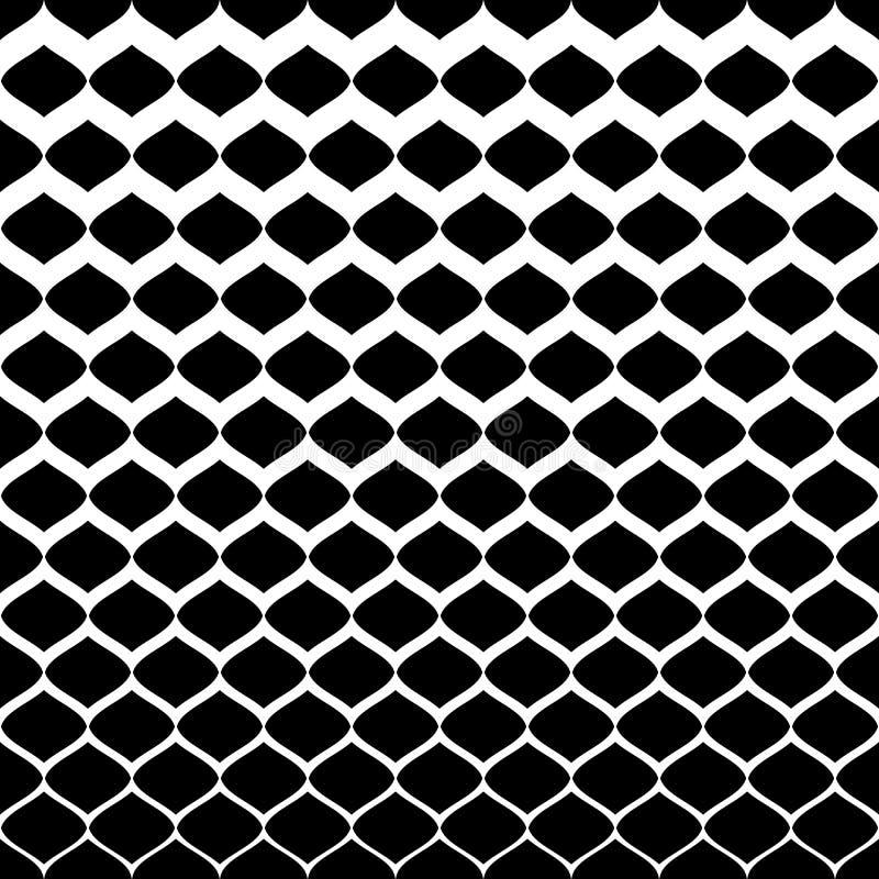 半音样式 从白色的梯度转折与黑色 皇族释放例证