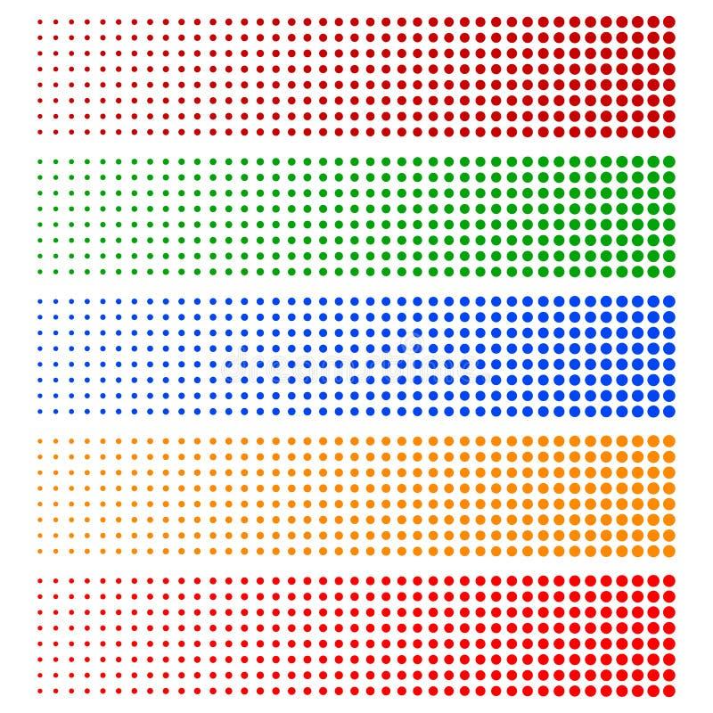 半音要素 在5种颜色的退色的圈子 皇族释放例证