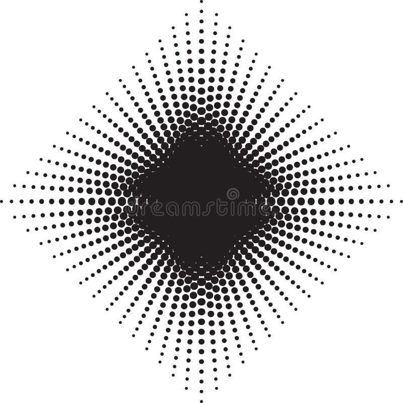 半音辐形样式背景 传染媒介加点减速火箭的纹理 A 皇族释放例证