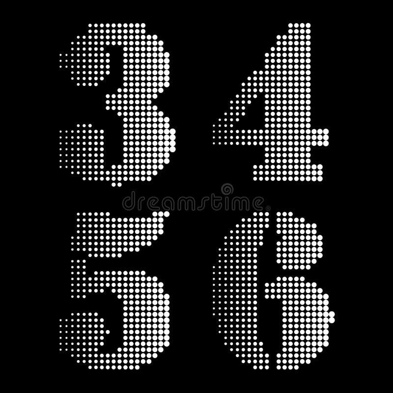 半音黑白色字母表在数字记法上写字 库存例证