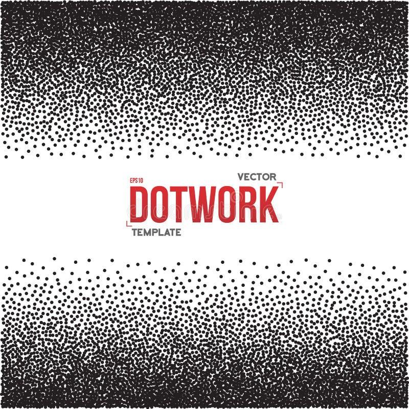 半音Dotwork样式单色梯度传染媒介背景 向量例证
