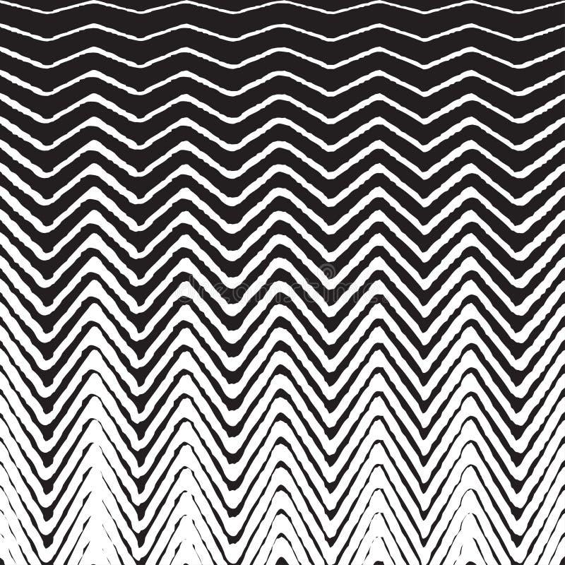 半音Z形图案背景 传染媒介减速火箭之字形的纹理 向量例证