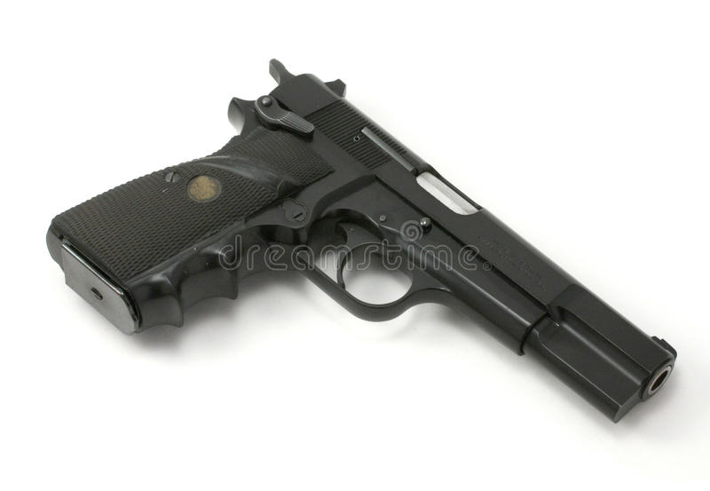 半9mm自动手枪 库存照片