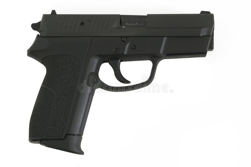 半9mm自动手枪 免版税库存图片