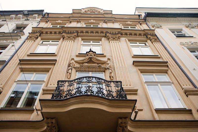 华丽大厦在克拉科夫,波兰 库存图片