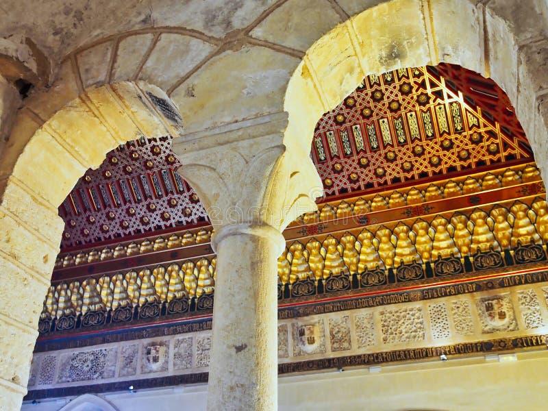 华丽天花板、历史的Alcà ¡ zar de塞戈维亚,卡斯提尔和利昂,西班牙 免版税库存图片