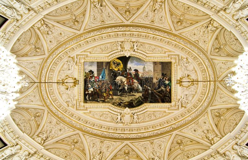 华丽最高限额的壁画 库存图片