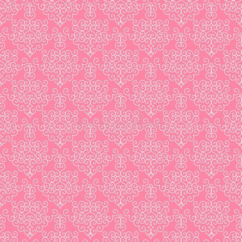 华丽纸粉红色 向量例证