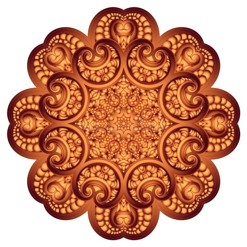 华丽花上色在印地安样式的传染媒介坛场 皇族释放例证