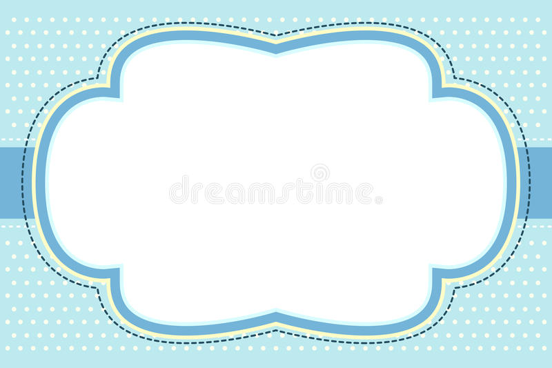 华丽蓝色泡影的框架 向量例证