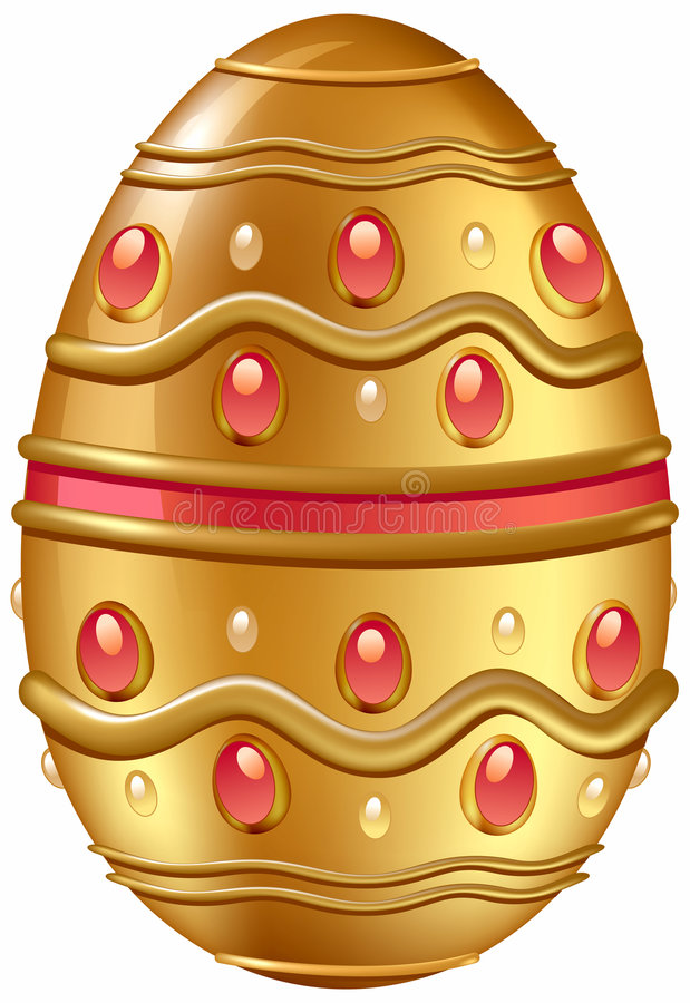 华丽蛋金黄的珠宝 免版税库存照片