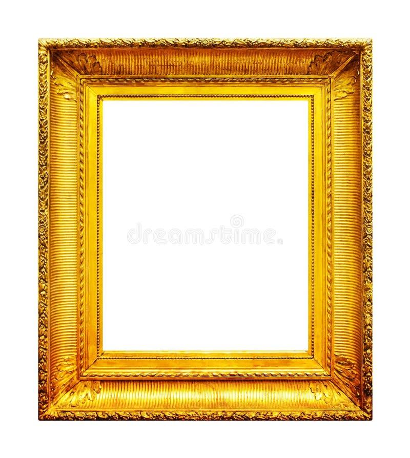 华丽金照片框架 免版税库存照片