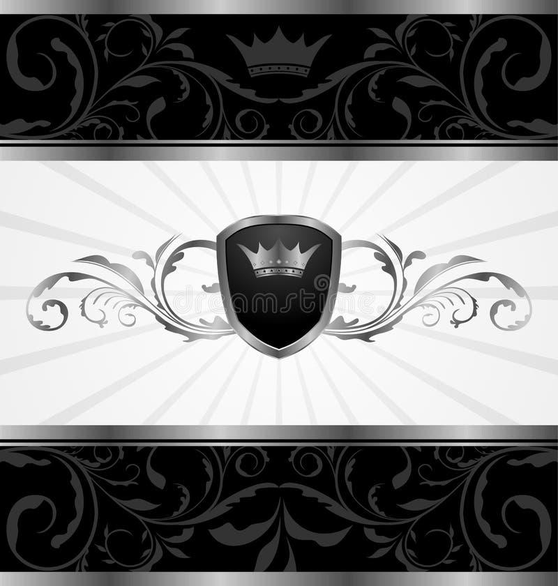 华丽黑暗的装饰的框架 皇族释放例证