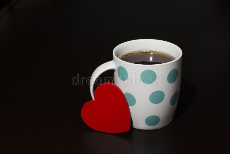 华伦泰和一杯茶 库存照片