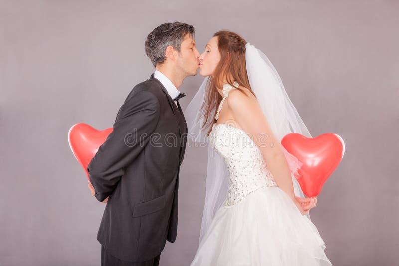 华伦泰婚礼爱 免版税库存图片