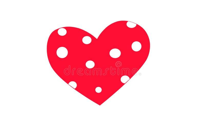 华伦泰` s天套心脏 向量例证