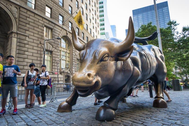 华尔街充电的公牛  免版税图库摄影