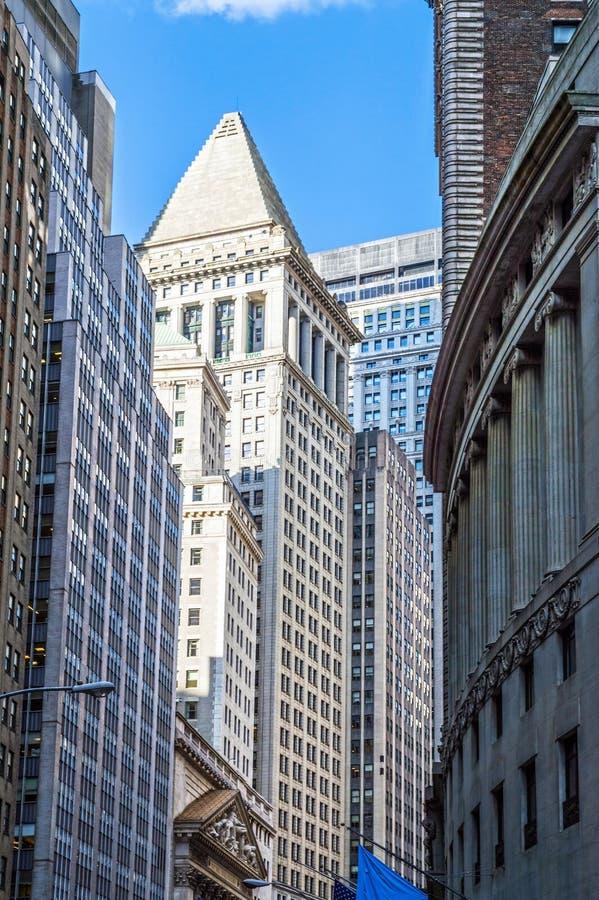 华尔街峡谷  免版税库存图片